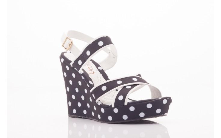 Sandały dijean 753 518 black poa-white, czarny, skóra ekologiczna/ materiał - na platformie - sandały - buty damskie - kobieta 4
