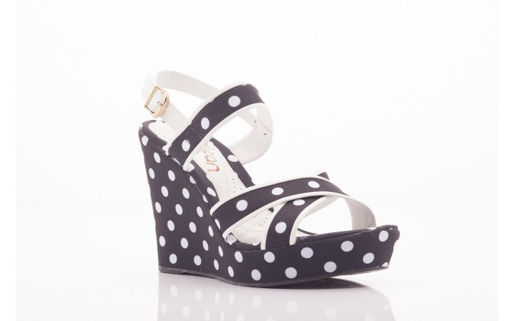 Sandały dijean 753 518 black poa-white, czarny, skóra ekologiczna/ materiał - dijean - nasze marki 4