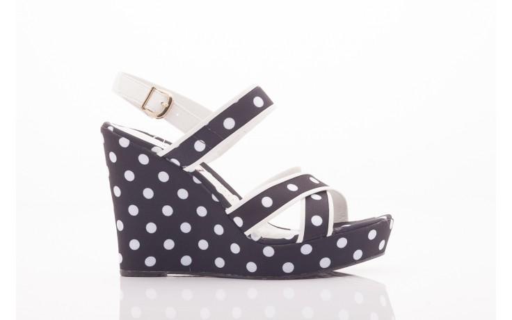 Sandały dijean 753 518 black poa-white, czarny, skóra ekologiczna/ materiał - na platformie - sandały - buty damskie - kobieta 2