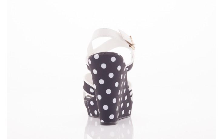 Sandały dijean 753 518 black poa-white, czarny, skóra ekologiczna/ materiał - na platformie - sandały - buty damskie - kobieta 3
