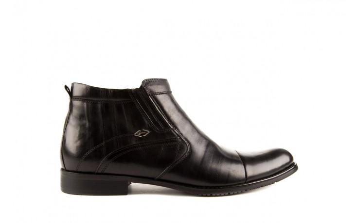 Trzewiki john doubare y1051-a25-5 black, czarny, skóra naturalna - brooman - nasze marki