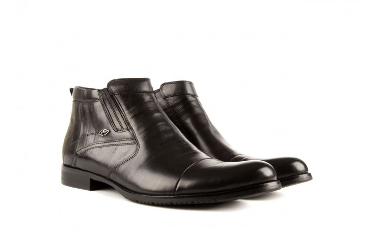 Trzewiki john doubare y1051-a25-5 black, czarny, skóra naturalna - brooman - nasze marki 1