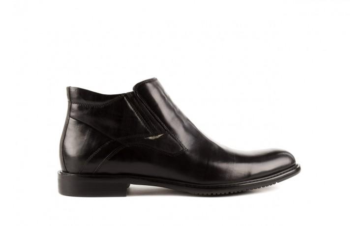 Trzewiki john doubare y2308-22-2 black, czarny, skóra naturalna - brooman - nasze marki