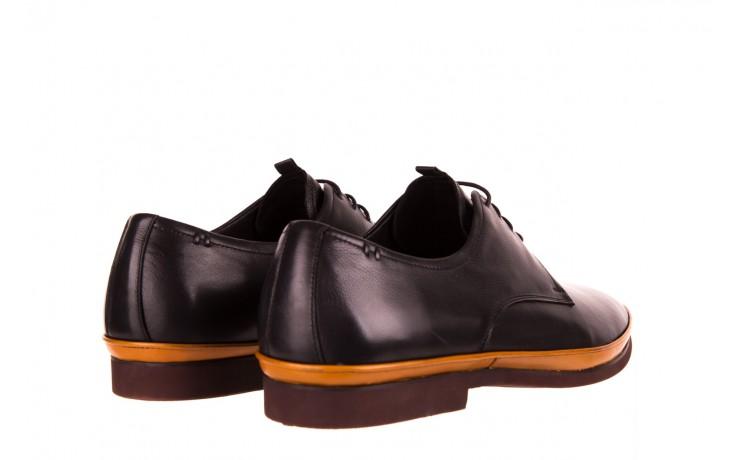 Półbuty john doubare d220-92-a01 black, czarny, skóra naturalna  - dla niego - sale 4