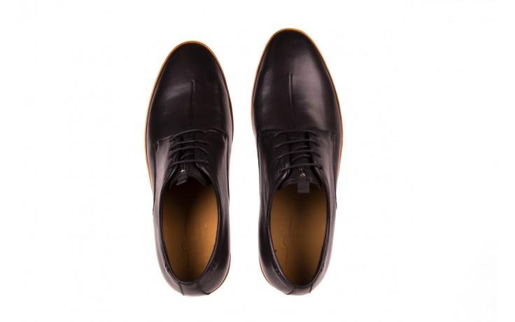 Półbuty john doubare d220-92-a01 black, czarny, skóra naturalna  - dla niego - sale 3