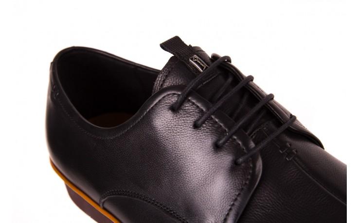 Półbuty john doubare d220-92-a01 black, czarny, skóra naturalna  - dla niego - sale 5