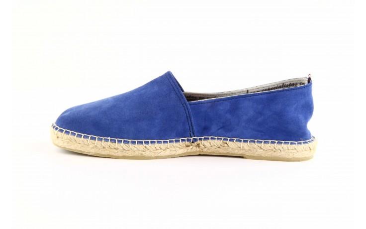 Mokasyny laro pepe 14l jeans, niebieski, skóra naturalna 3