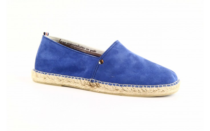 Mokasyny laro pepe 14l jeans, niebieski, skóra naturalna 5