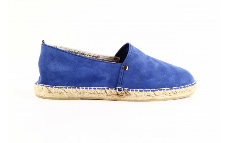 Mokasyny laro pepe 14l jeans, niebieski, skóra naturalna 4