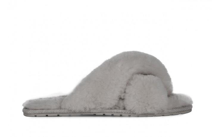 Klapki emu mayberry light grey, futro naturalne - emu - nasze marki