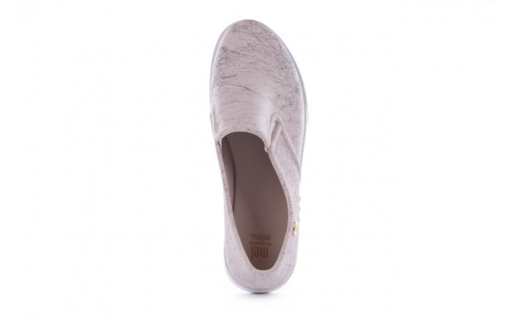 Trampki mel 32152 beige white, beż/biały, guma 4