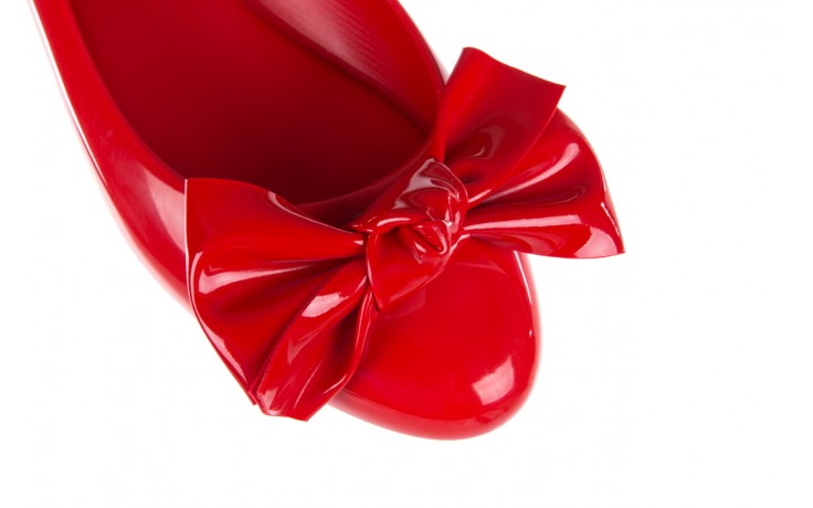 Baleriny melissa doll fem ii ad red, czerwony, guma - kobieta 6
