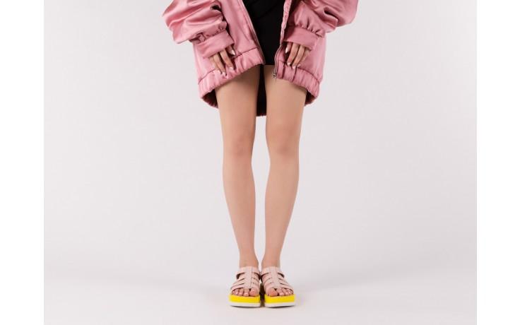 Sandały melissa flox iii ad pink-yellow, beż, guma - melissa - nasze marki 6