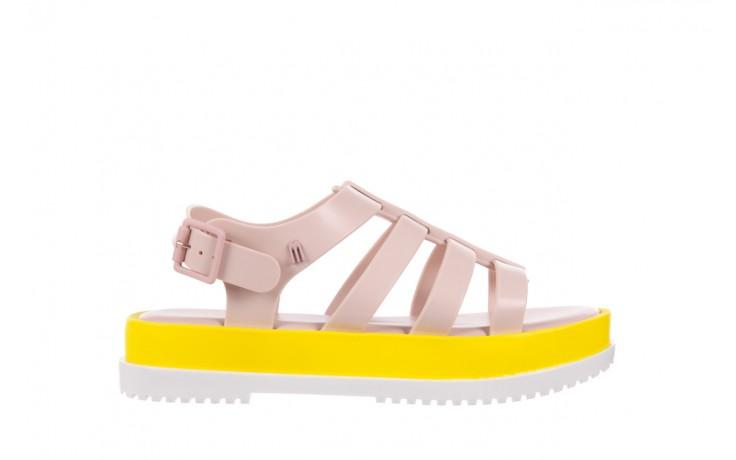 Sandały melissa flox iii ad pink-yellow, beż, guma - melissa - nasze marki