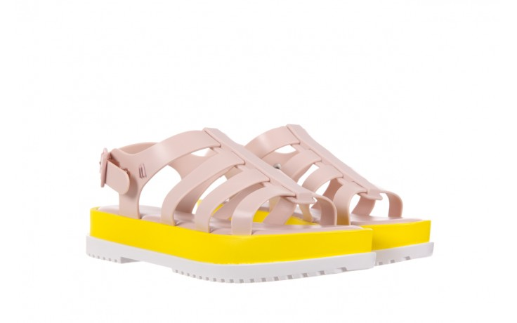 Sandały melissa flox iii ad pink-yellow, beż, guma - melissa - nasze marki 1