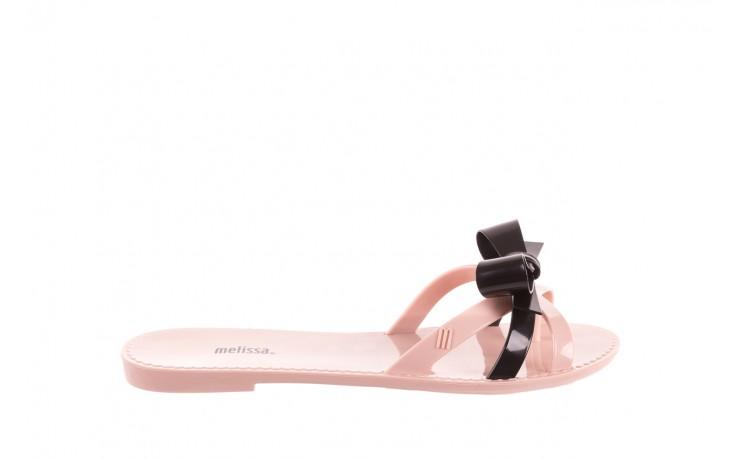 Klapki melissa fluffy ad pink black, róż/czarny, guma - melissa - nasze marki