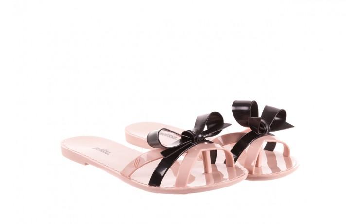 Klapki melissa fluffy ad pink black, róż/czarny, guma - melissa - nasze marki 1