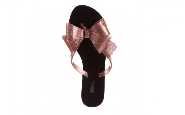 Klapki melissa harmonic bow iii ad black glitter rose, róż/czarny, guma - japonki - klapki - buty damskie - kobieta 4