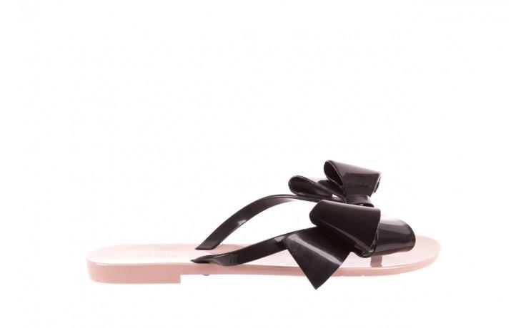 Klapki melissa harmonic bow iii ad pink black, róż/czarny, guma - melissa - nasze marki