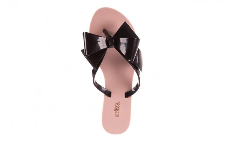 Klapki melissa harmonic bow iii ad pink black, róż/czarny, guma - melissa - nasze marki 4