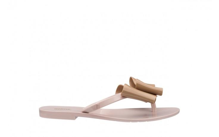 Klapki melissa harmonic bow iv ad pink beige, róż/beż, guma - japonki - klapki - buty damskie - kobieta