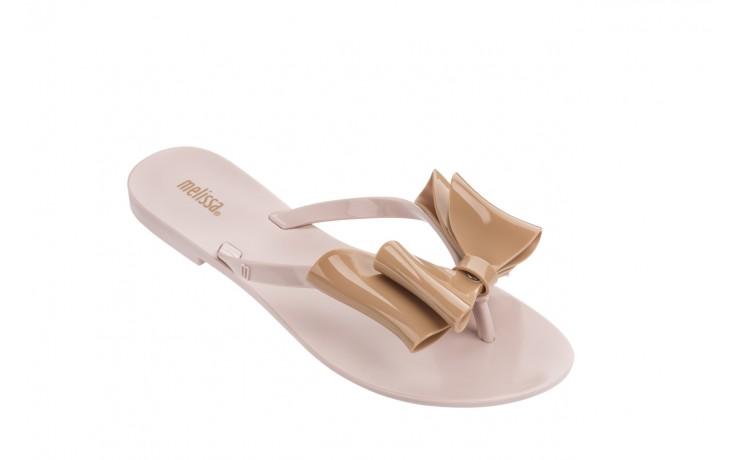 Klapki melissa harmonic bow iv ad pink beige, róż/beż, guma - japonki - klapki - buty damskie - kobieta 1