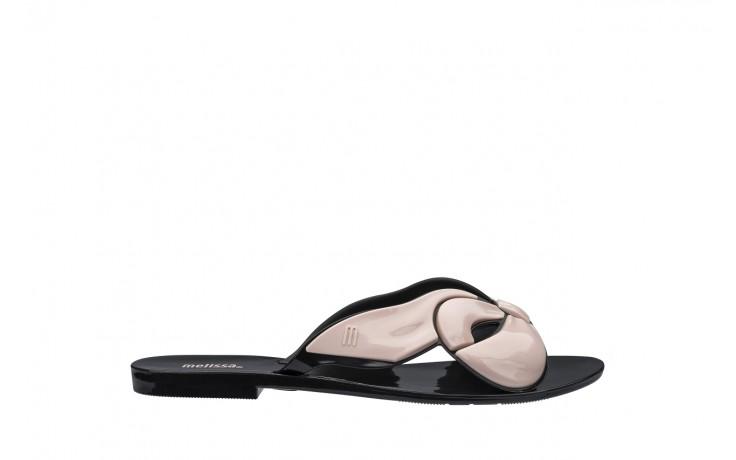 Klapki melissa harmonic maxi bow ad black pink, róż/czarny, guma - japonki - klapki - buty damskie - kobieta