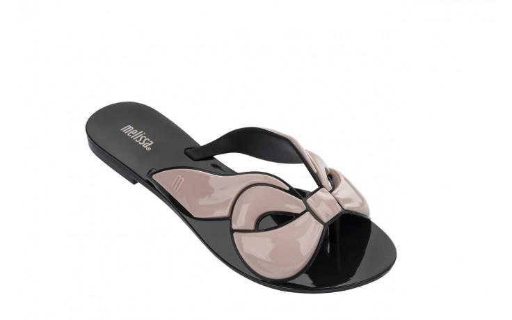 Klapki melissa harmonic maxi bow ad black pink, róż/czarny, guma - japonki - klapki - buty damskie - kobieta 1