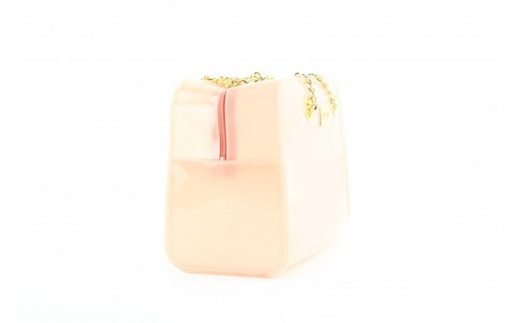 Torebka menghi 601 bauletto rosa gel, beż, tworzywo sztuczne 3