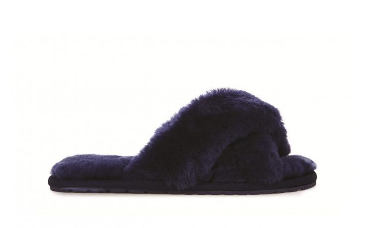 Klapki emu mayberry midnight 21 119130, granat, futro naturalne  - klapki - buty damskie - kobieta