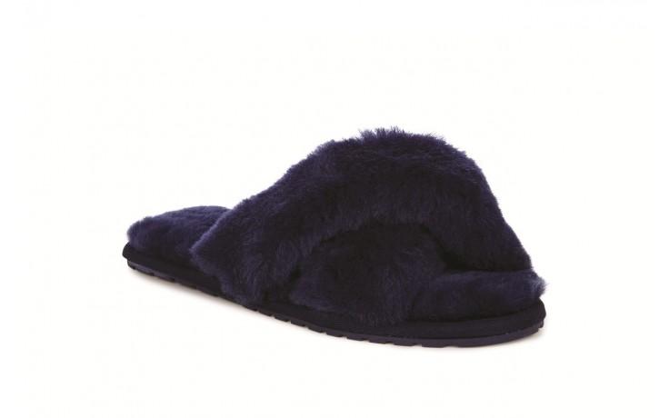 Klapki emu mayberry midnight, granat, futro naturalne - klapki - buty damskie - kobieta 1