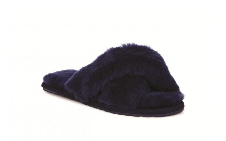 Klapki emu mayberry midnight 21 119130, granat, futro naturalne  - klapki - buty damskie - kobieta 1