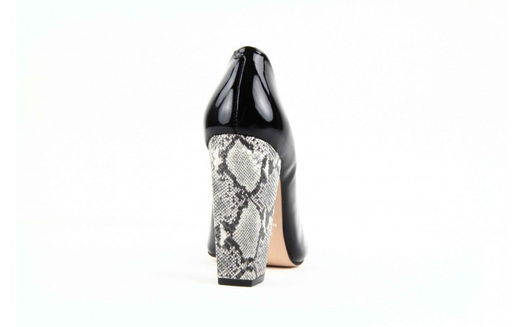 Czółenka studio tmls 22816 patent soft snake black, czarny, skóra naturalna lakierowana 4