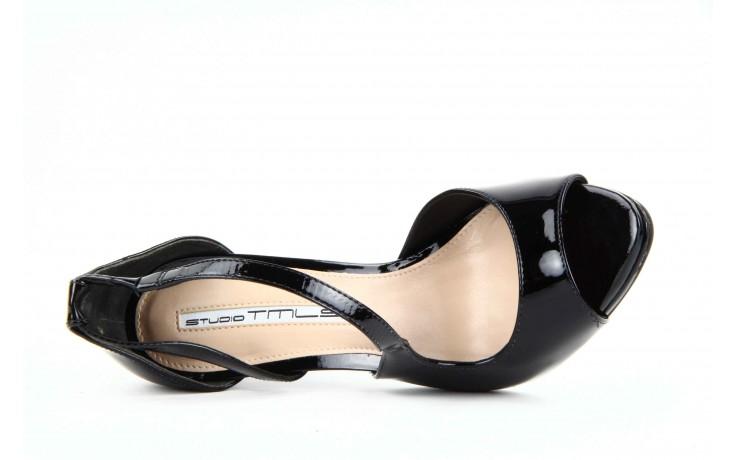 Sandały studio tmls 25156x patent soft black, czarny, skóra naturalna lakierowana 4