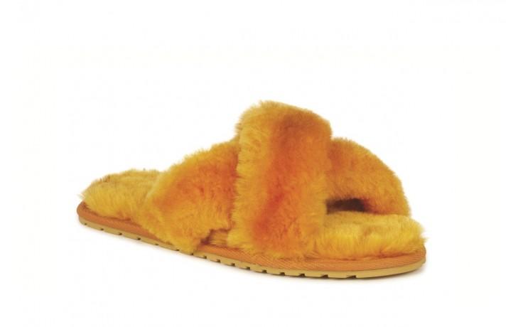Klapki emu mayberry mustard, futro naturalne - klapki - buty damskie - kobieta 1