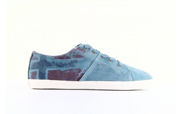 Trampki napapijri 08738149 blue grey, niebieski, materiał 3
