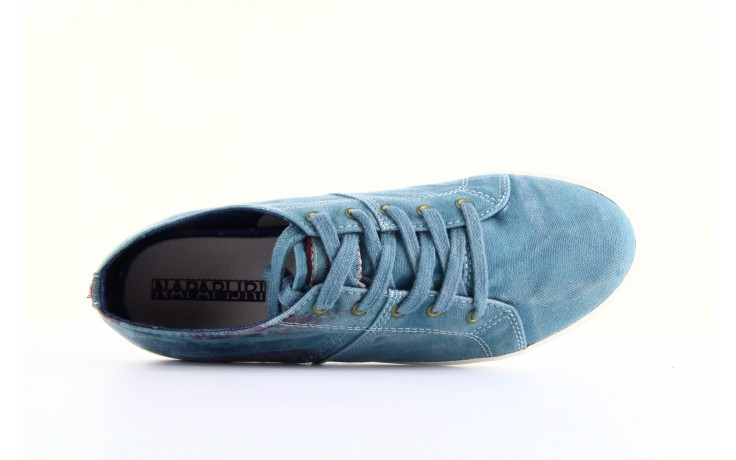 Trampki napapijri 08738149 blue grey, niebieski, materiał 2