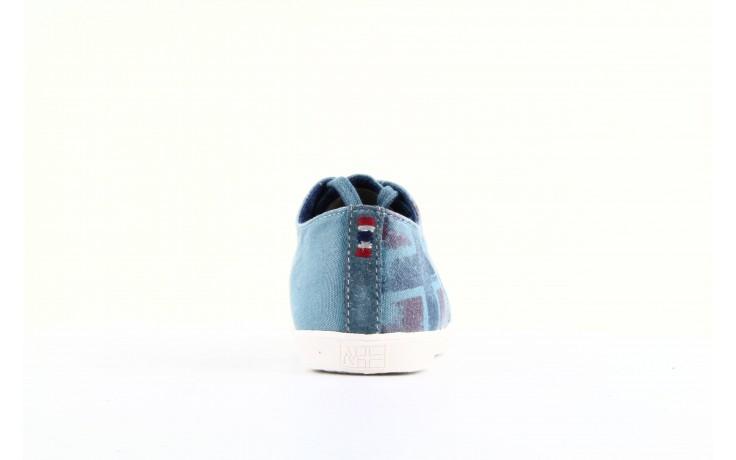 Trampki napapijri 08738149 blue grey, niebieski, materiał