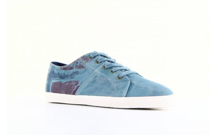 Trampki napapijri 08738149 blue grey, niebieski, materiał 1