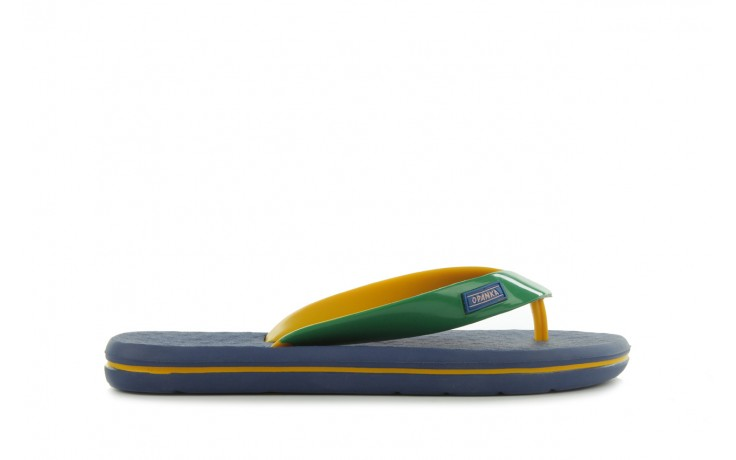 Klapki jatoba 015 yellow w/navy, żółty/niebieski, guma - azaleia - nasze marki
