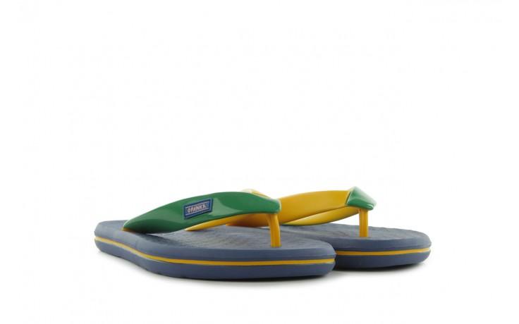 Klapki jatoba 015 yellow w/navy, żółty/niebieski, guma - azaleia - nasze marki 1
