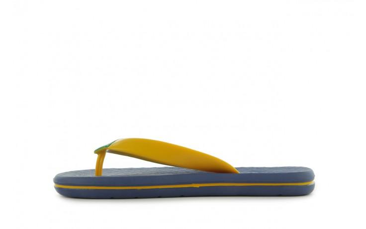 Klapki jatoba 015 yellow w/navy, żółty/niebieski, guma - azaleia - nasze marki 2