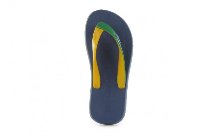 Klapki jatoba 015 yellow w/navy, żółty/niebieski, guma - azaleia - nasze marki 3