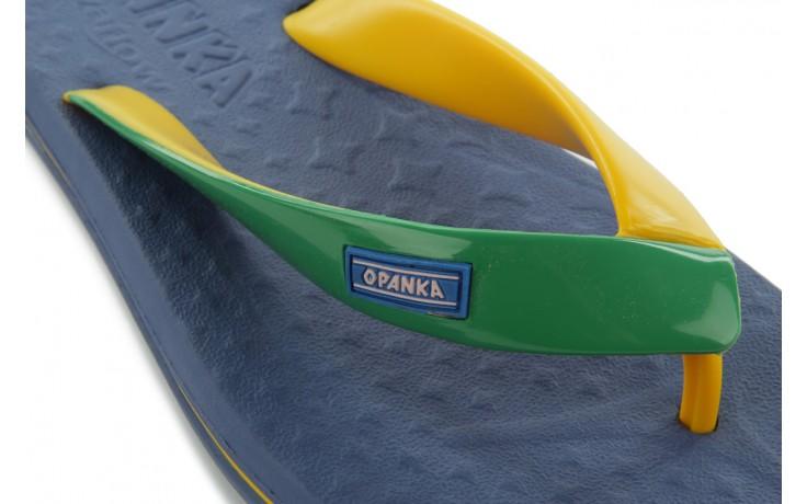 Klapki jatoba 015 yellow w/navy, żółty/niebieski, guma - azaleia - nasze marki 5