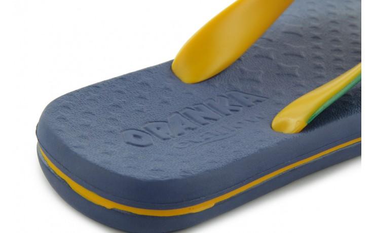Klapki jatoba 015 yellow w/navy, żółty/niebieski, guma - azaleia - nasze marki 4