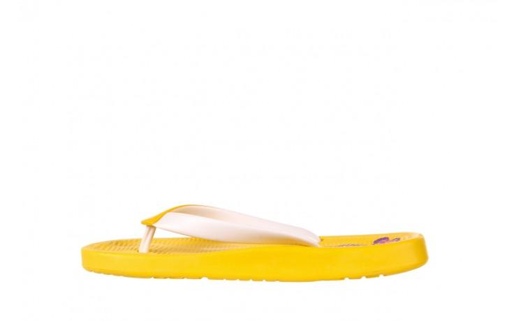 Klapki kiss 026 yellow or neon, żółty, guma - azaleia - nasze marki 2