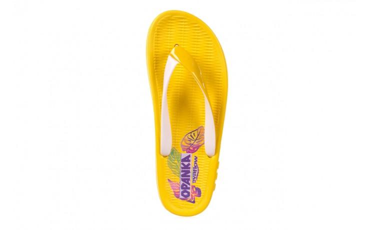 Klapki kiss 026 yellow or neon, żółty, guma - azaleia - nasze marki 3
