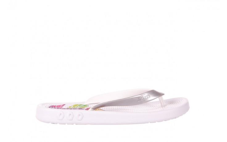 Klapki kiss 026 white, biały/ srebro, guma - azaleia - nasze marki