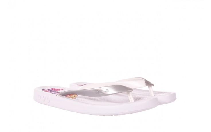 Klapki kiss 026 white, biały/ srebro, guma - azaleia - nasze marki 1