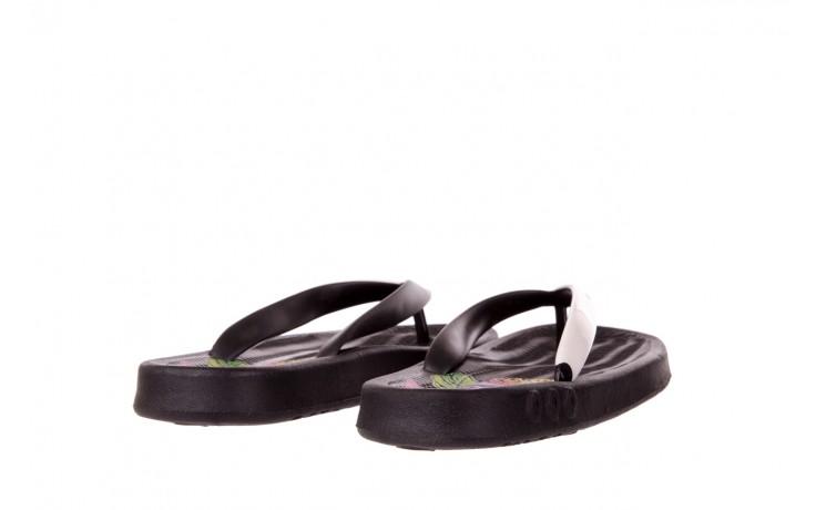 Klapki kiss 026 black neon, czarny/ biały, guma - azaleia - nasze marki 3